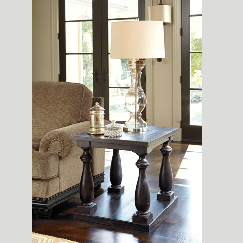 Ashley Mallacar Piece Coffee Table Set In Black T: Rectangular-End-Table-T880-3