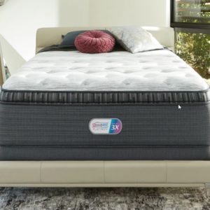 BEAUTYREST PLATINUM Grantbury Port Luxury Firm Pillow Top Mattress & Flat Foundation