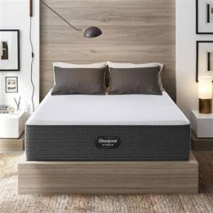 SIMMONS BEAUTYREST HYBRID BRX1000-C PLUSH MATTRESS FLAT SET