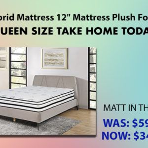 Hybrid Mattress 12″ Mattress Plush Foam